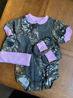 Mossy Oak Camo Camouflage 3PC Baby Infant Newborn Set Girl Pink COMING HOME