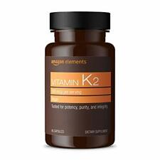 Elements Vitamin K2 100 mcg, Vegan, 65 Capsules, 2 month supply (Packaging ma...