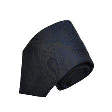 Men's dark navy paisley patterned  neck tie