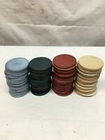 Vintage Clay Poker Chips Red White Blue Green 84pc Lot