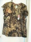 NEW WOMEN'S MOSSY OAK CAMOUFLAGE SHORT SLEEVE T-SHIRT CAMOUFLAGE HUNTING XL NWT