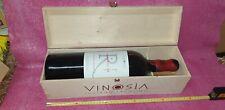 cassa di legno vuota  Vinosia Taurasi  con bottiglia vuota da 3 litri