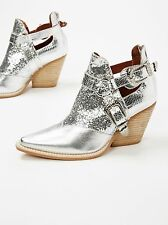 Jeffrey Campbell and Free People Icon Western Boot Silver Combo Size 7 Gorgeous