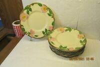 "Set of 8 Franciscan DESERT ROSE 6 3/8"" Bread & Butter Plates USA"