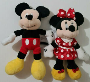 DISNEY BABY MICKEY MOUSE & MINNIE MOUSE SOFT TOYS SET OF 2
