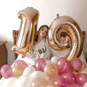 Foil Air Balloons Number Happy Birthday Anniversary Party Decoration Boy Girl