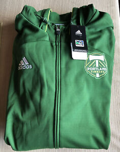 Portland Timbers Adidas Anthem Full-Zip Hoodie Men's XL Green NWT