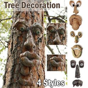 Baum Gesicht Vogel Feeder Outdoor Baum Hugger Skulptur-Garten Hof Dekoration