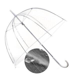 Transparenter Design Regenschirm - durchsichtiger Stockschirm Schirm transparent