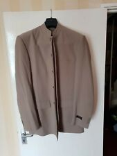 Mens Brown Carlo Bellini Suit With Silk Shirt Good Price!