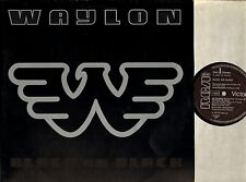 WAYLON JENNINGS black on black PL 14247 germany rca victor 1982 EX/VG+