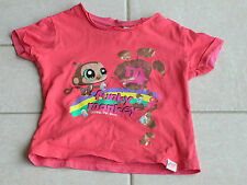 325 - T-shirt MC 4 ans Littlest Pet Shop rouge funky monkey