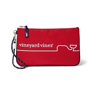 Vineyard Vines Target Pouch Small Large Navy Pink Whale White Flag Steele Grey R