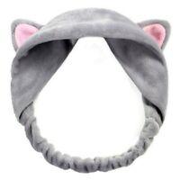Bella fascia per capelli dell'orecchio del gatto fascia per le donne lavare N9Z8