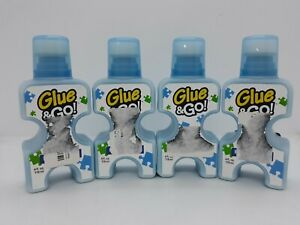 Lot of 4 Glue & Go Jigsaw Puzzle Glue 4 oz Each