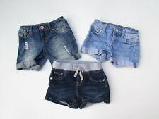 Justice 6 Regular Distress Blue Denim Jean Shorts 3 pair LOT DK1