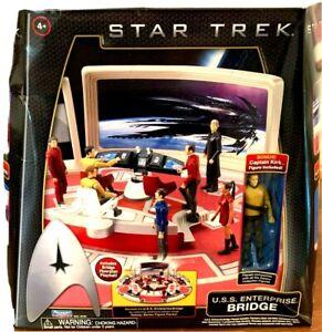 STAR TREK USS ENTERPRISE BRIDGE PLAY SET 2009 Playmates w/ Kirk Figure New