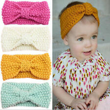 4PCS Baby Girl Boy Infant Crochet Knitted Turban Headband Hairband Head Wrap AU