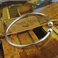 Frauen Schmuck Silber überzogene offene Armreif Manschette Armband einstellbar