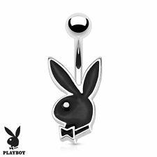 "1 PC 14g 3/8"" Licensed Playboy Bunny Enamel Navel Belly Ring #3"