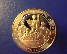 1877 Hayes Election - Franklin Mint Solid Bronze Commemorative Medal