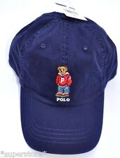 NWT POLO RALPH LAUREN Men Varsity Bear CAP Baseball Hat LIMITED Edition NAVY