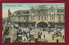 Vintage Postcard.Victoria Station-Exterior.Philco Publ Co.Bevelled Edge Ser. E11