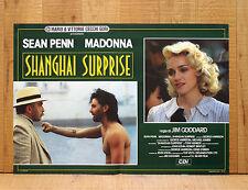 SHANGAI SURPRISE fotobusta poster affiche Madonna Sean Penn Jim Goddard AA24