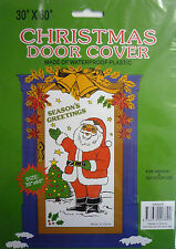Christmas Santa Door Cover Decoration (Season's Greetings) Inside or Outside use