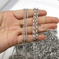 1mm/2mm Wholesale In Bulk 5/10Meter Stainless Steel Box Link Chain DIY Chain