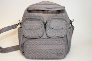 Lug Womens Mini Puddle Jumper Multi-Pocket Zip Snap Double Handle Crossbody Bag