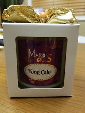 Mardi Gras king cake candle by Bourbon Royalty, Mardi Gras candle