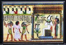 "Nefertiti & Funerary Rituals 2"" X 3"" Fridge Magnet. Egyptian Mummy Hieroglyphs"