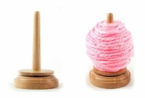 Classic Knit Wooden Spinning Yarn and Thread Holder Wool Winder Storage