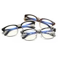 Vintage Retro Half Frame Anti-radiation Clear Lens Glasses Nerd Geek Eyewear