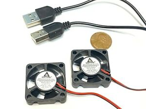 2 pieces USB plug 5v 3010 3cm Brushless Cooling Fan small micro 30mm Gdstime C19