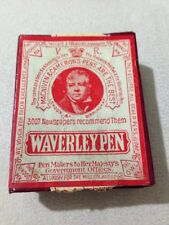 VINTAGE MACNIVEN & CAMERON WAVERLEY DIP PEN NIBS X 9 NEW OLD STOCK-BOXED.