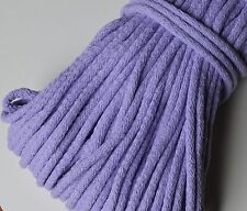 5 mm braided cotton cord - sewing, clothes, bags, crocheting 10 lovely colours