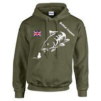 CARP FISHING CLOTHING - HOODIE- OLIVE