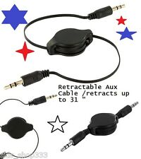 Dealers lot of (5) 3.5mm Male to M AUX AUXILIARY Retractable Stereo Audio Cable