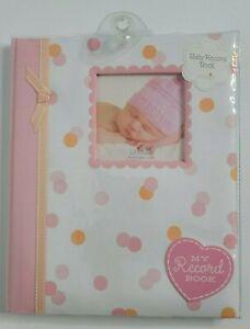 Baby Girl Shower Gift Memory Book Newborn First Years Pink Photo Album Record