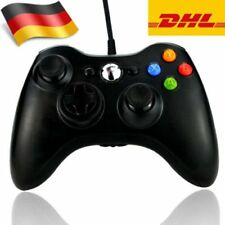 Verkabelt Schwarz XBOX 360 Controller USB Joypad für PC Windows Gamepad Play