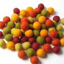 60 Hand-felted Wool Felt Balls 1 CM Autumn Halloween Handbehg Felts Crafts