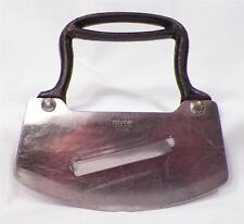Vintage Food Chopper Slicer Metal Handle Kitchen Utensil Tool Stainless Nevco