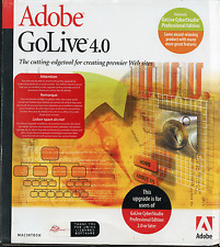 Adobe GoLive 4 Upgrade from Golive Cyberstudio Pro Edn
