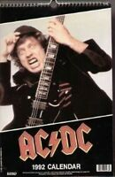 AC/DC 1992 vintage rock calendar. ANGUS YOUNG , MALCOLM YOUNG, dates match 2020