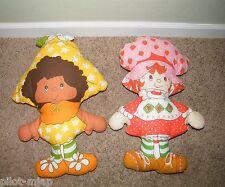 2 Vintage ~ Strawberry Shortcake ~ Cloth / Pillow Dolls ~ Orange Blossom