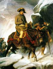 Paul Delaroche  - Napoleon Crossing the Alps   - 24'  CANVAS