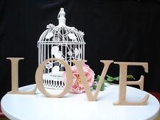 LOVE Wooden Letters freestanding unpainted 14.5cm high