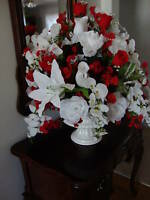 Silk Brides Wedding Centerpiece Designed In Your Colors $75.00
